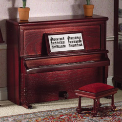 2114Victorian Upright Piano & Stool