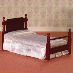 2563Victorian Mahogany Single Bed