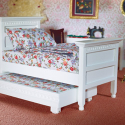 3437White Single Bed & Guest Bed
