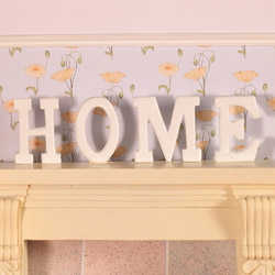 3951'HOME' Letters in wood, 4pcs