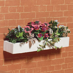6185Pink Foliage Window Box