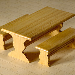 6793Table & Two Benches