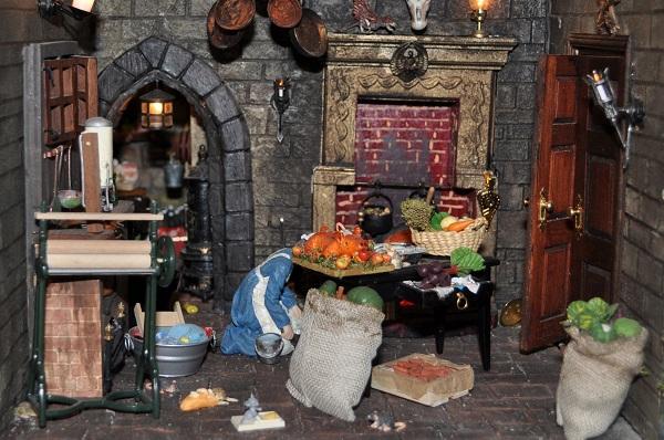 The Castle Kitchen - Tony Middleton's Cumberland Castle: The Dolls House Emporium