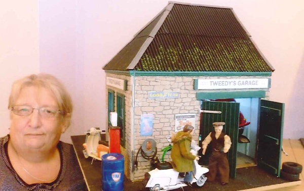 Jane Lansdowne from Derbyshire with her dolls house competition entry