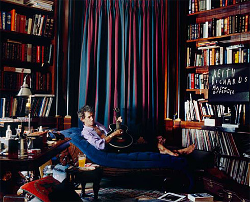 Keith Richards' library, the real one!