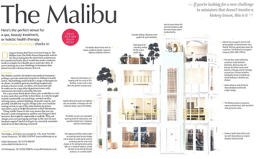 Malibu as featured in The Dolls' House Magazine