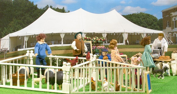 miniature country fair display