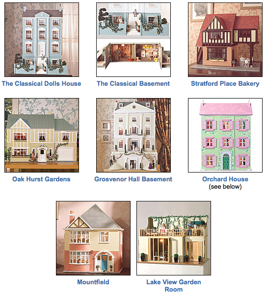 Christmas dolls' houses
