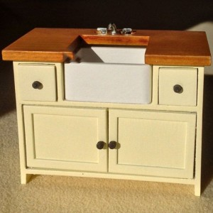 The Shaker kitchen is a popular style still today and can be replicated in your dolls' house.