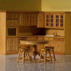 Period dolls' house furniture