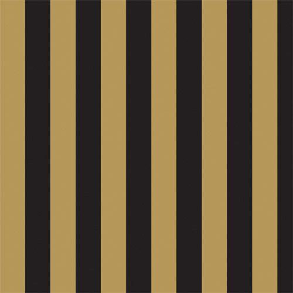 The Dolls House Emporium Gold Amp Black Stripe Wallpaper