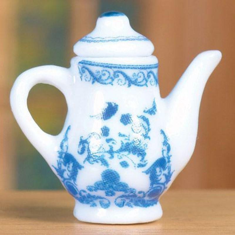 Delft Style Coffee Pot