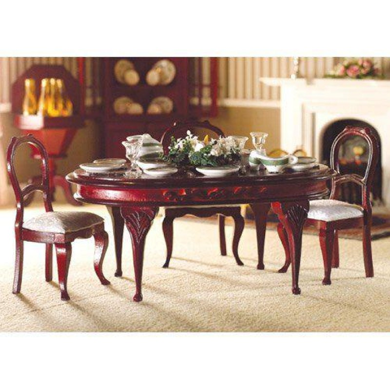 Queen Anne Oval Dining Table (M)
