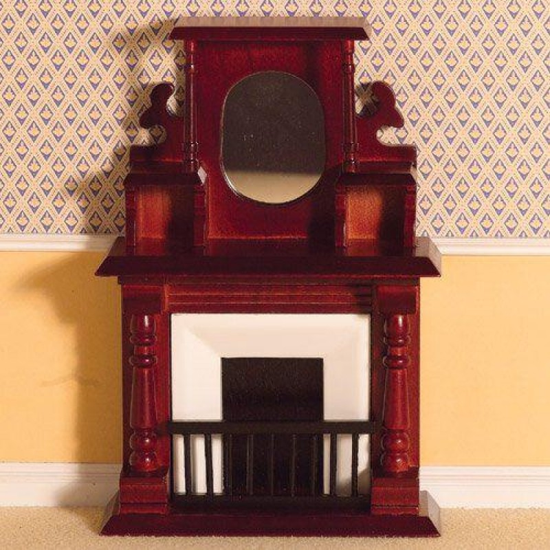 Victorian Fireplace with Overmantel 160 x 108 x 43mm