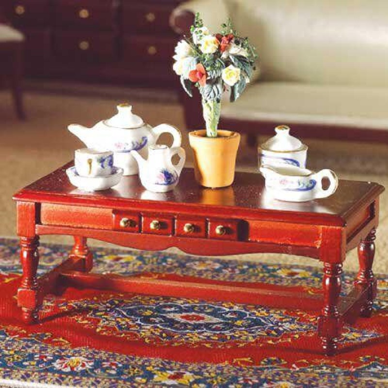 Oblong Coffee Table with Drawer (M)