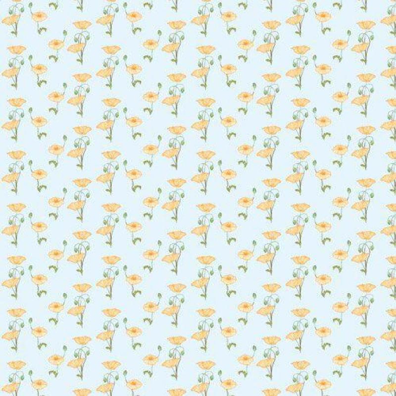 Yellow Poppy Wallpaper 430 x 600mm