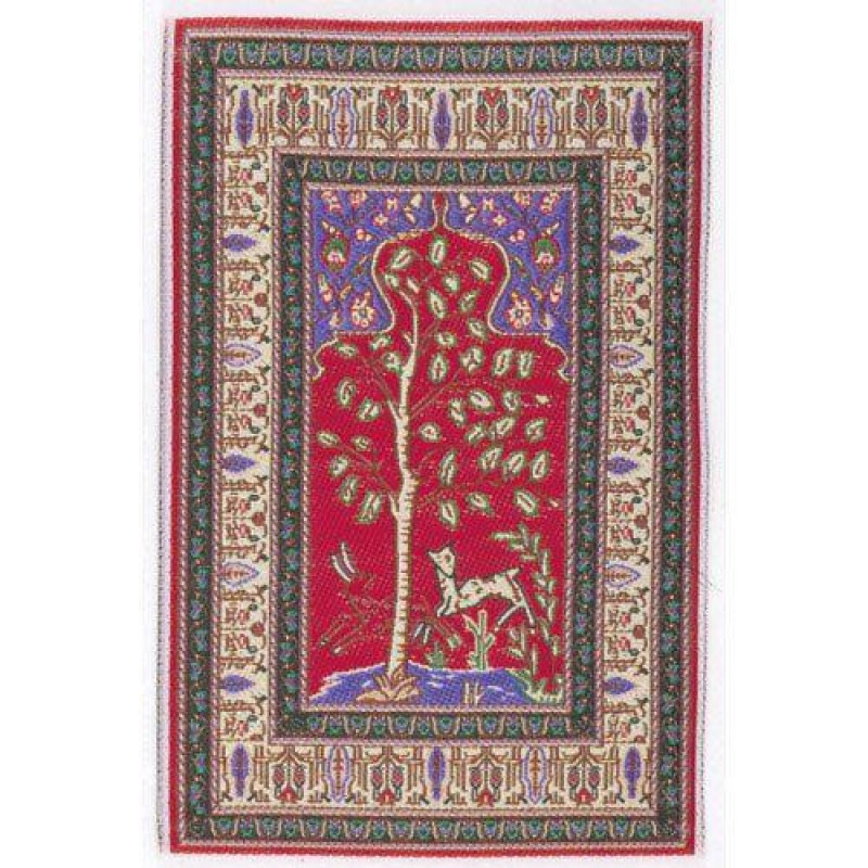 Red Quince Rug 105 x 75mm
