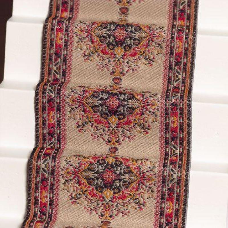 Beige & Rust Stair Carpet 500 x 50mm