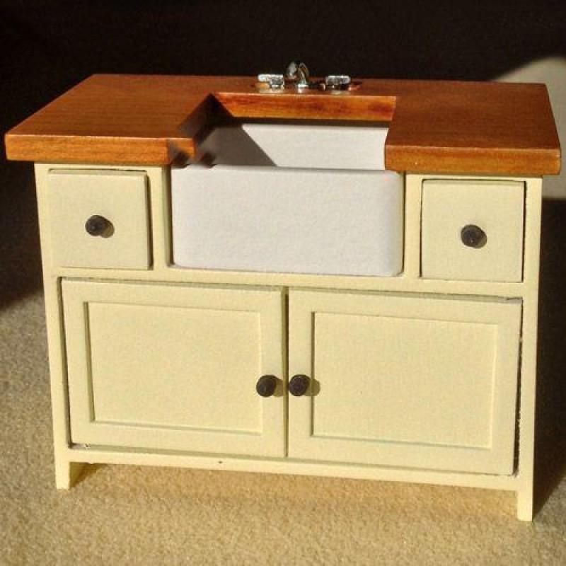 Cream Shaker-style Sink Unit