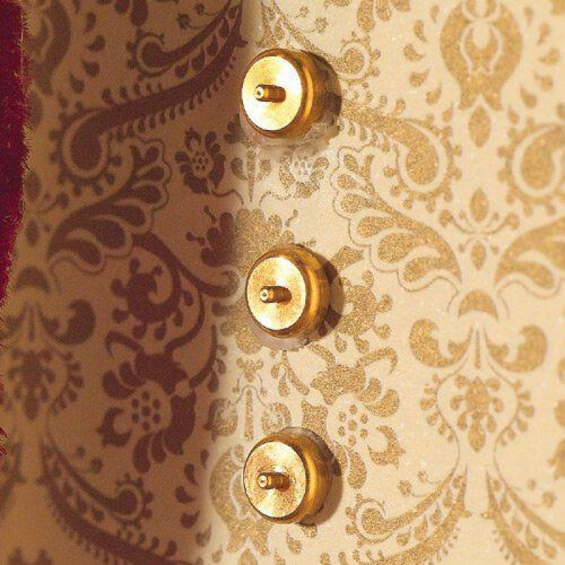 Brass Light Switches, 10 pcs 5mm Dia (Non-Working)