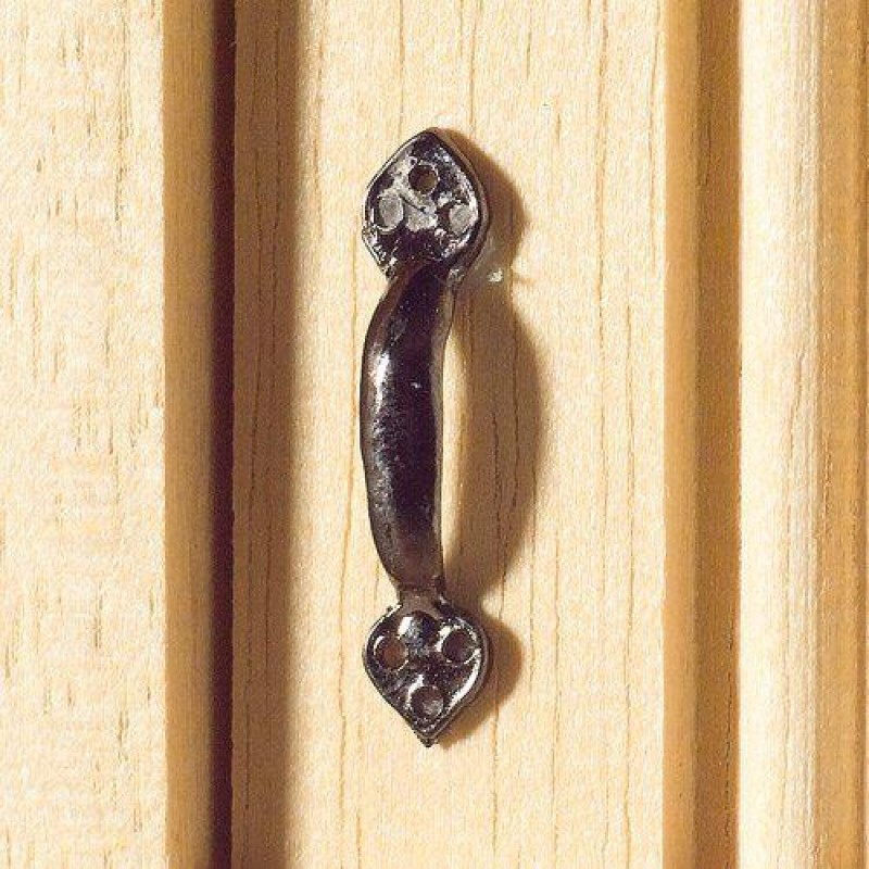 Black Tudor-Style Door Handles, 2 pcs 20 x 3mm