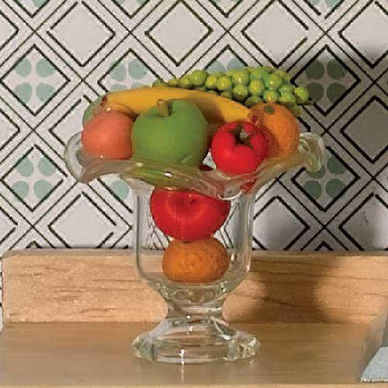 Glass Bowl with Fresh Fruit