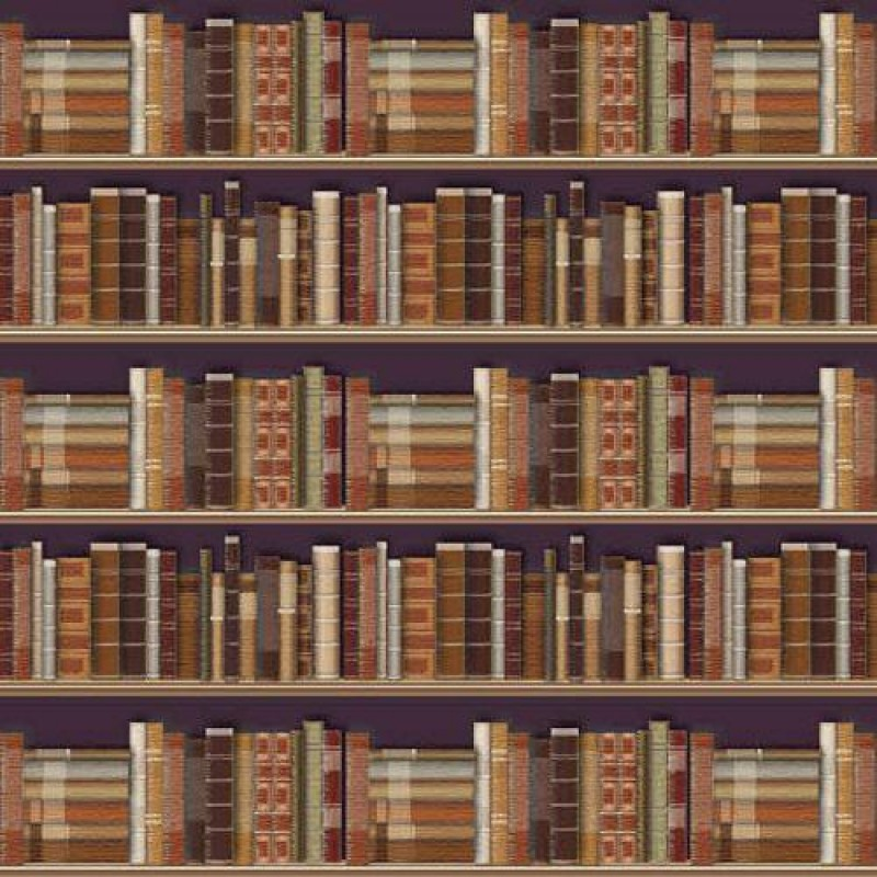Traditional Bookcase Wallpaper 430 x 600mm
