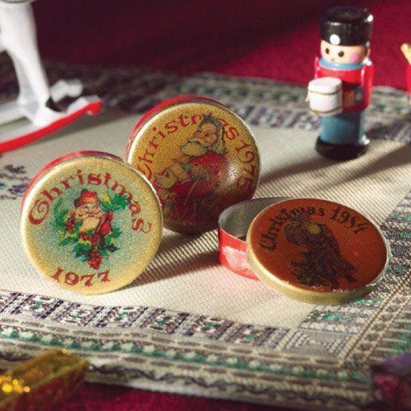 Christmas Tins, 3 pcs