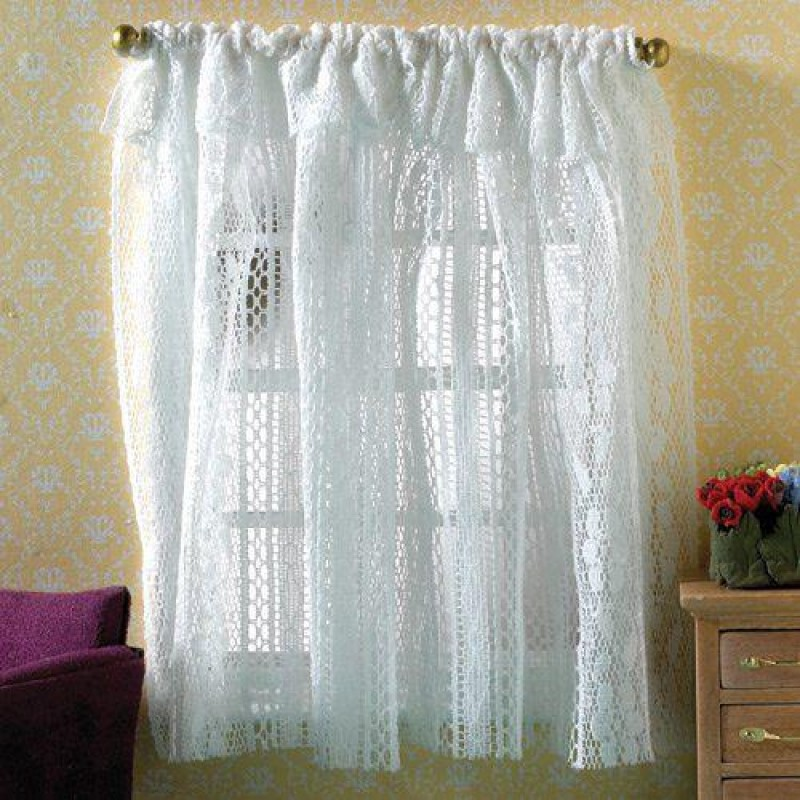 White Lace Curtains 160 x 125mm