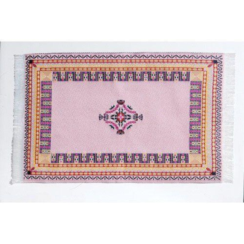 Soft Pink Woven Rug 160 x 100mm