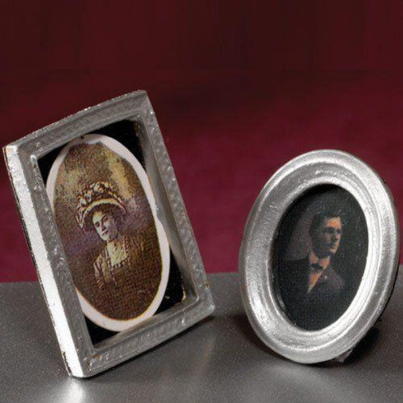 Pair of Silver Standing Pictures