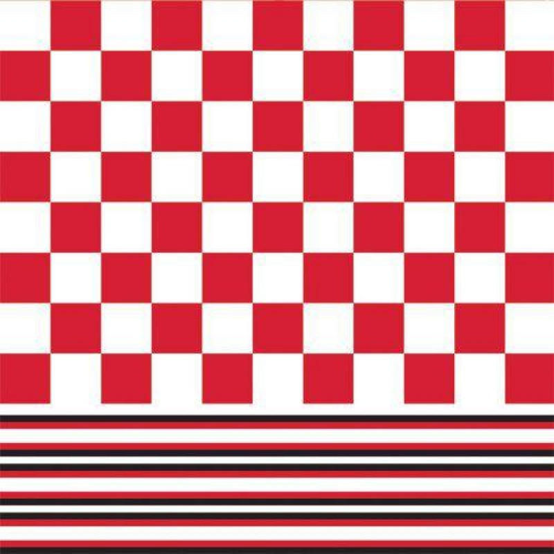 Red & White Tile Paper 430 x 600mm