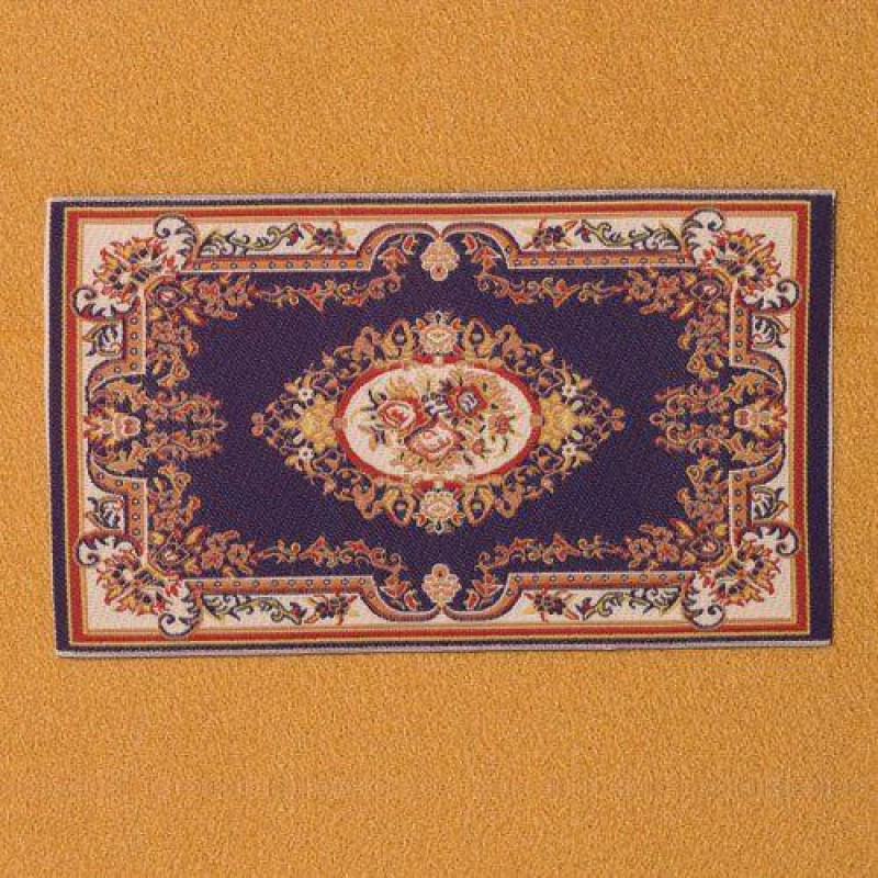 Blue Floral Cameo Rug 170 x 100mm