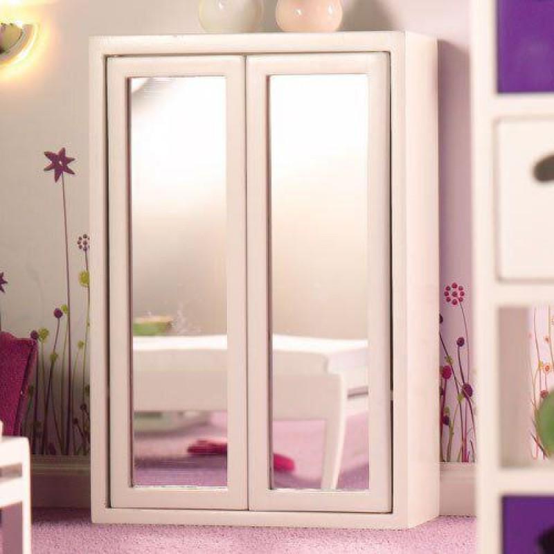 White Mirror Front Wardrobe