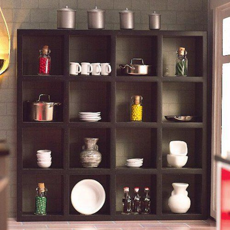 Black Display Shelves