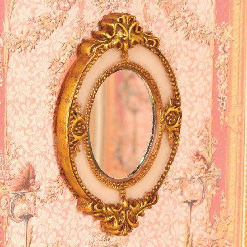 Ornate Oval Mirror (PR)