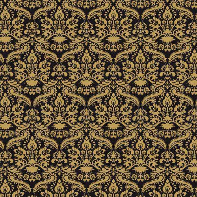 Black Damask Wallpaper 430 x 600mm