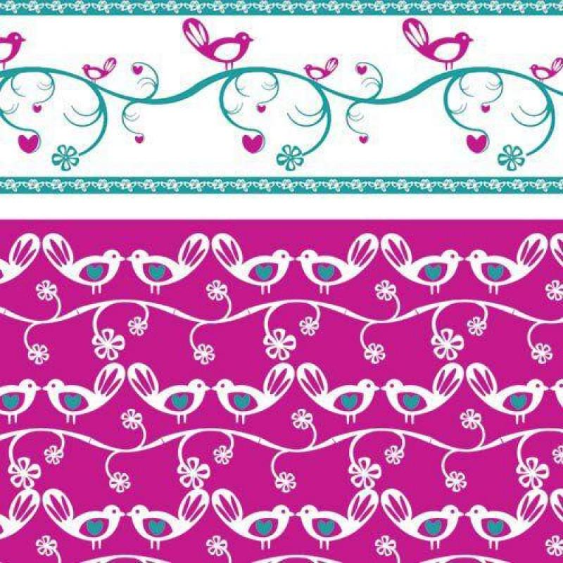 Lovebirds Pink Wallpaper 430 x 600mm