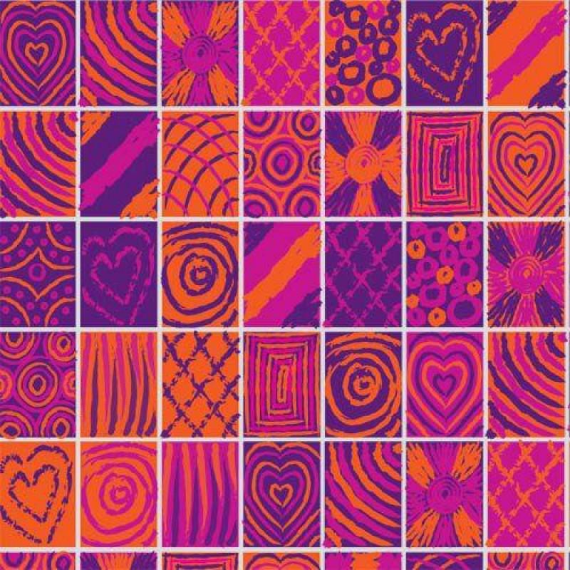 Pink Tiles Wallpaper 430 x 600mm