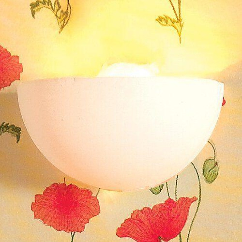 White Half Moon Sconce Light