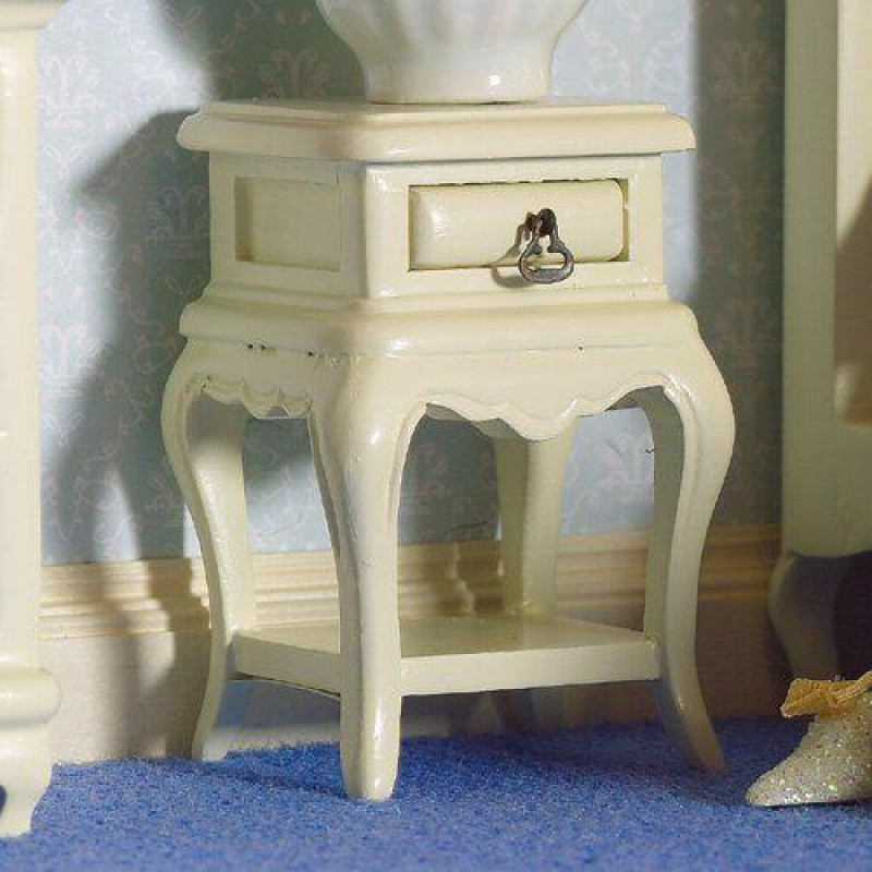 French-style Cream Bedside Table