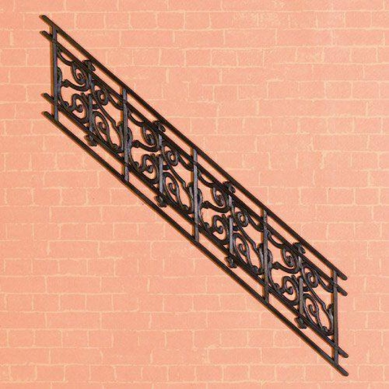 Angled Stair Railing, Plastic 41 x 163mm