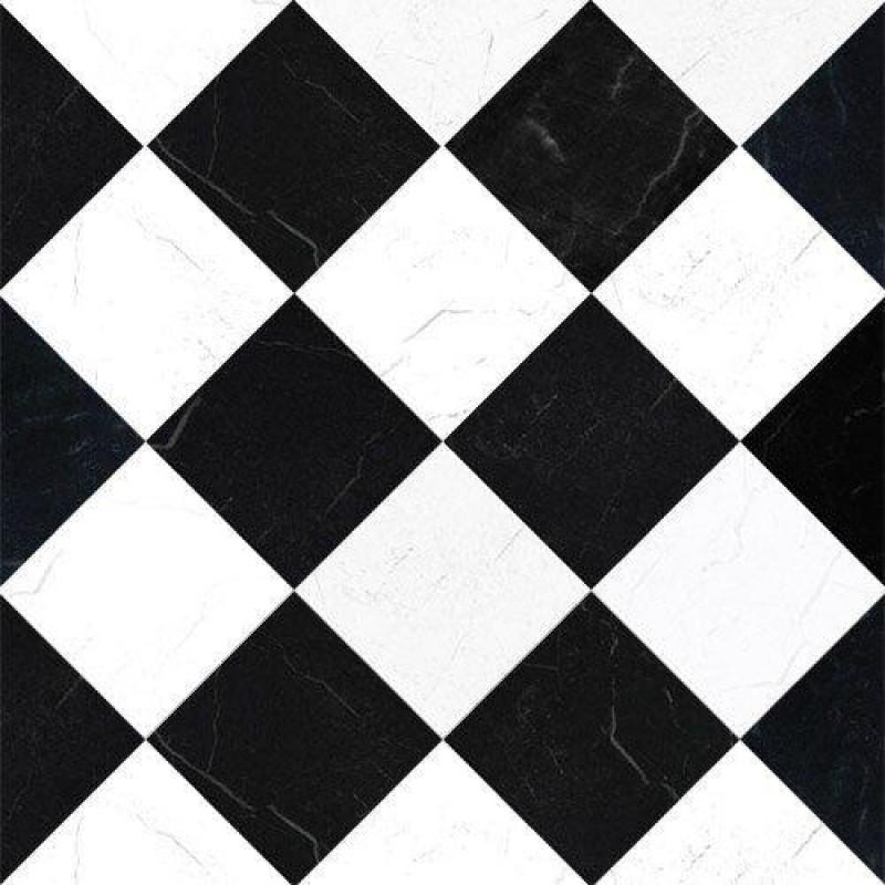 Black & White Marble Tile Paper 430 x 600mm