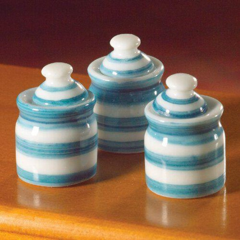 Cornish-Style Storage Jars, 6 pcs