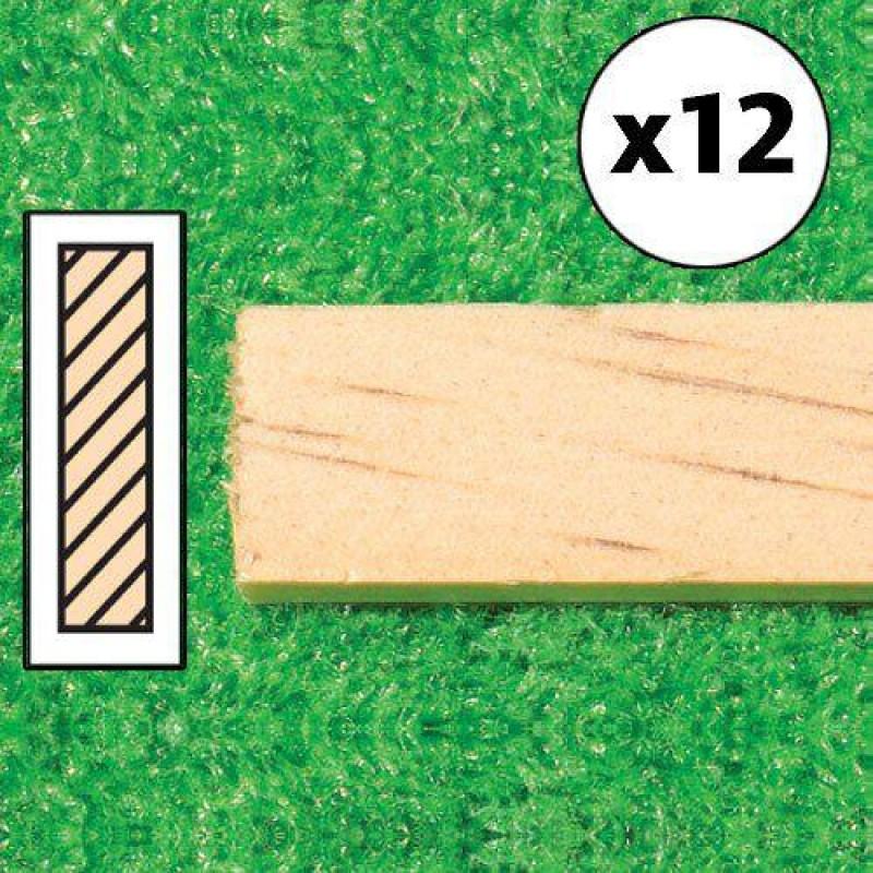 Timber Lengths, 12 pcs 610 x 13 x 3mm