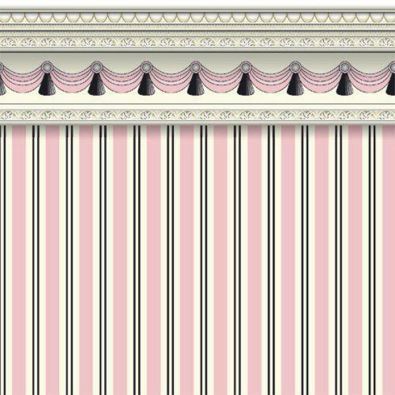 Pink Regency Stripe Wallpaper 430 x 600mm