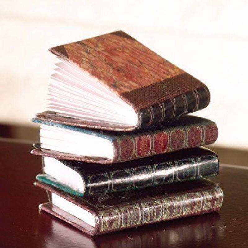 Leather-bound Books, 4 pcs
