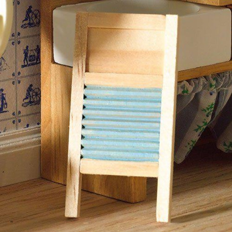 Wooden Washboard with Ribs