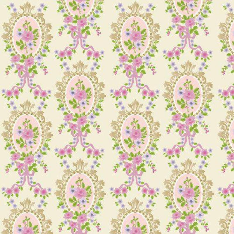 Cream Victorian Cameo Wallpaper 430 x 600mm