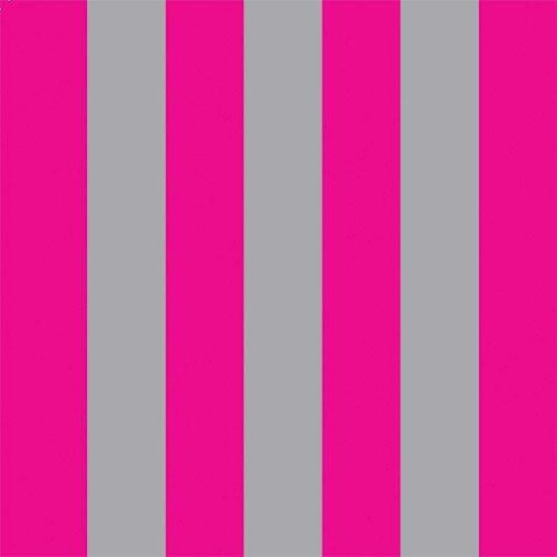 Bright Pink & Silver Stripe Wallpaper 430 x 600mm